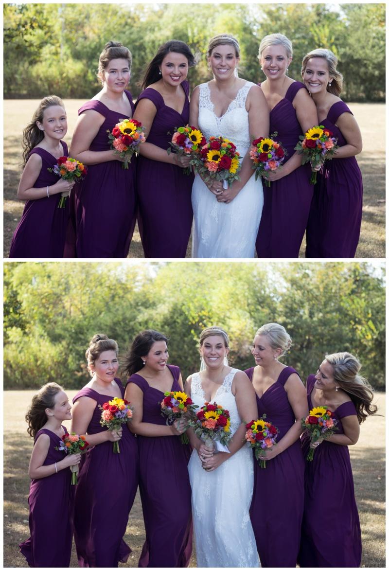 bridesmaids in purple_wedding